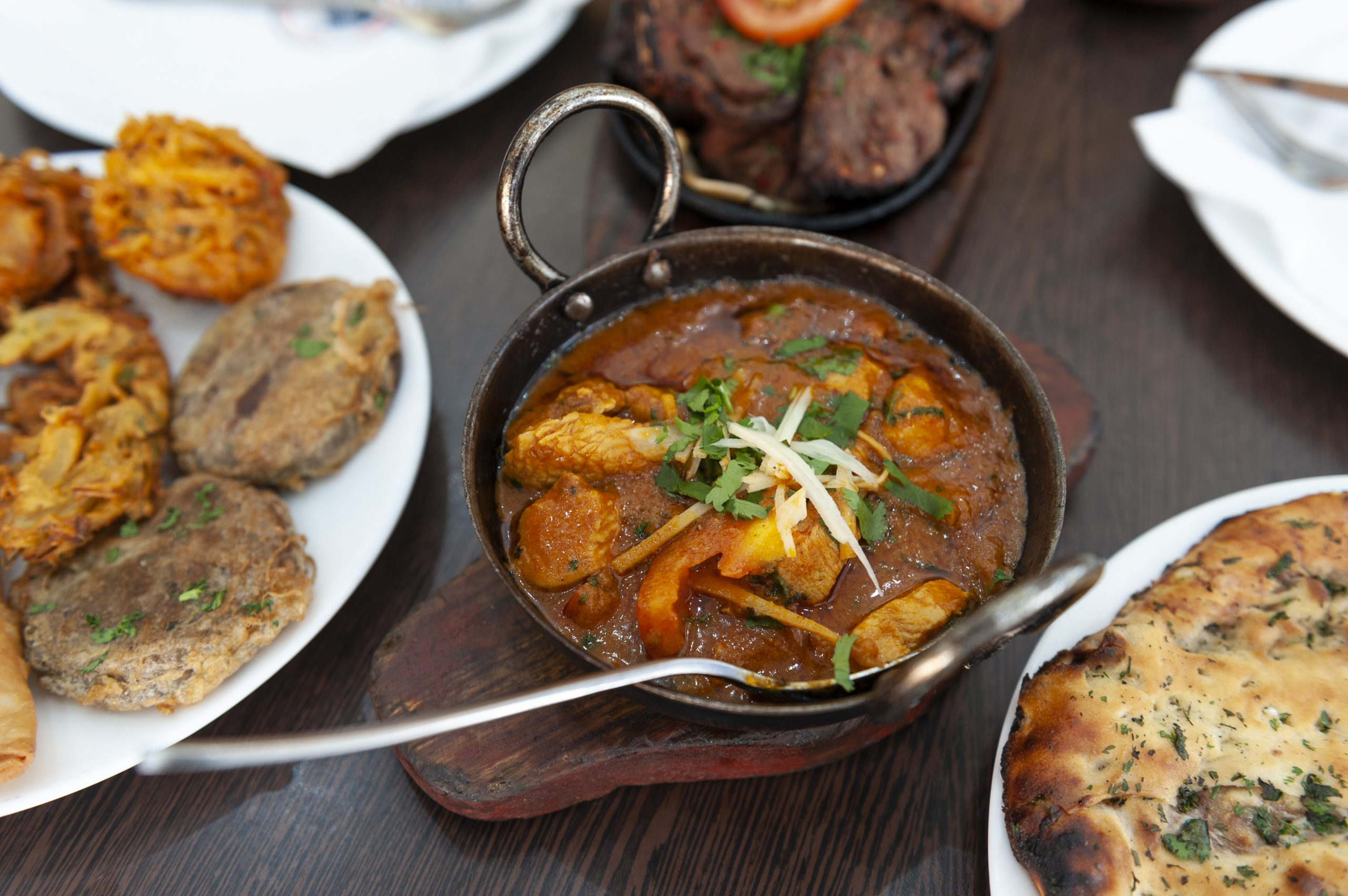 Flavourful Pakistani curry and naan